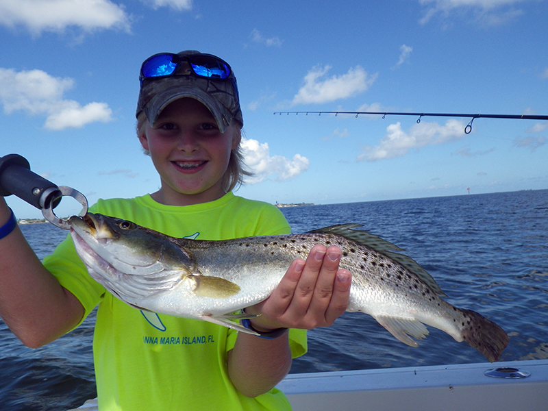 Trout2 captain aaron lowman for Anna maria island fishing report