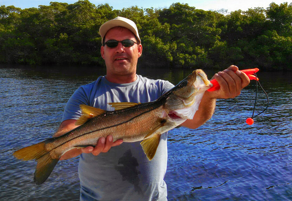 Snook 2 captain aaron lowman for Anna maria island fishing
