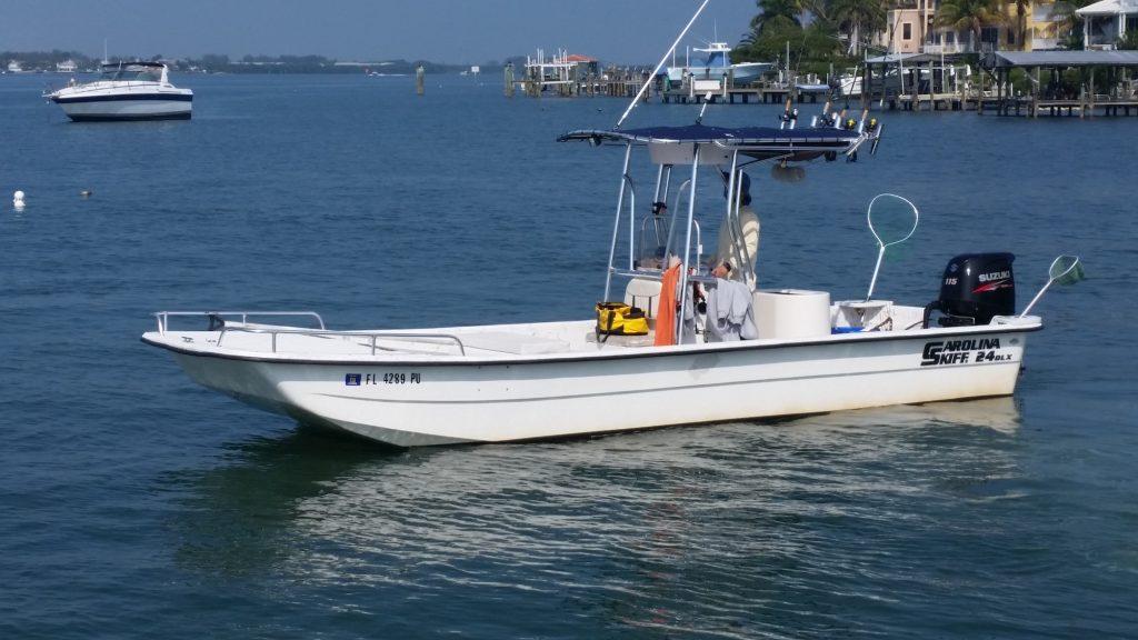 Captain Aaron Lowman Carolina skiff boat