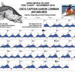 Anna Maria Island, FL Tide Chart November, 2018