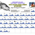 August 2020 Tide Chart for Anna Maria Island, Florida