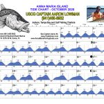 October 2020 Tide Chart for Anna Maria Island, Florida